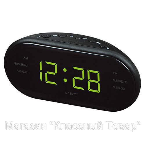 Настольные часы VST 902 (red, green) (зелёный , красный)!Лучший подарок