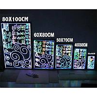 Неоновая панель LED WRITING BOARD 40*60!Лучший подарок, фото 1