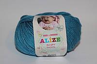 Полушерсть беби вул ализе детская пряжа для ручного вязания