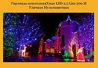 Гирлянда новогодняяXmas LED 2.5 Line 200 M Уличная Мультицветная (20)!Лучший подарок, фото 1