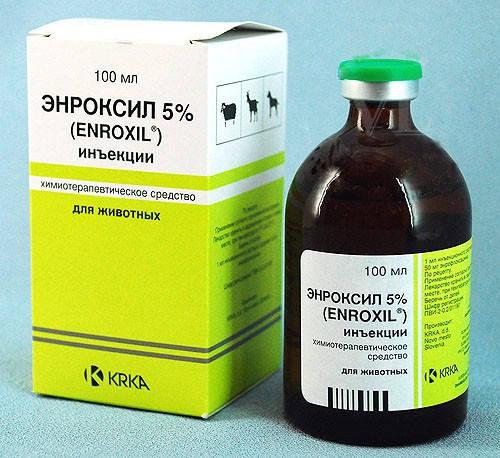 Энроксил 5% KRKA (Словения) 100 мл инъекционный раствор, антибиотик широкого спектра действия