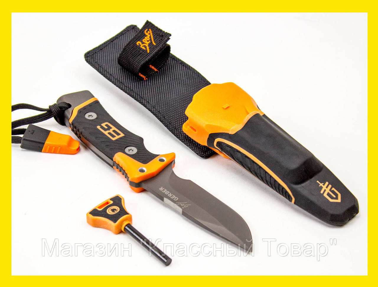 Нож Gerber Bear Grylls с огнивом!Лучший подарок