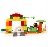 """Конструктор JDLT 5030 (аналог Lego Duplo) """"Зоопарк"""" 76/66 деталей KK"""
