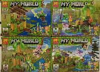 Конструктор  Minecraft Lele My World (аналог) 33177 4 в 1 KK
