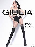 Женские колготки с имитацией  чулок и принтом в силе Chanel