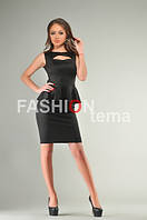 Платье баска черно из дайвинга