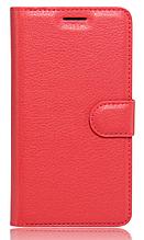 Кожаный чехол-книжка для Xiaomi Redmi note 5 красный
