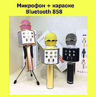 Микрофон + караоке Bluetooth 858! Лучший подарок, фото 1