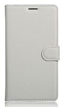Кожаный чехол-книжка для Xiaomi Redmi note 5 белый