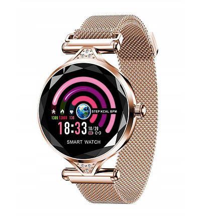 Женские смарт часы-браслет Smart Watch H1 (Gold), фото 2