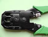 Інструмент обжимний для конекторів RJ-9, RJ-14, RJ-45 телефонної трубки, лінії і витої пари, фото 2