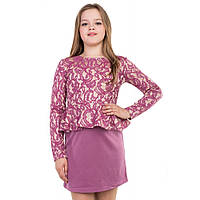 Гипюровое платье для девочки розового цвета