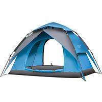 Палатка-автомат с автоматическим каркасом (синий-серый, оранжевый-зеленый)