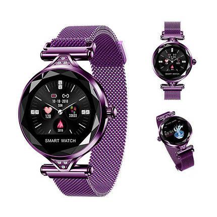 Женские часы-браслет Smart Watch (фиолетовые), фото 2