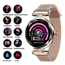 Женские часы-браслет Smart Watch (синие), фото 3
