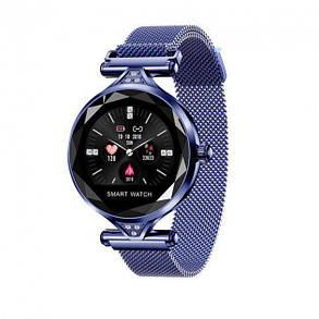 Женские часы-браслет Smart Watch (синие), фото 2