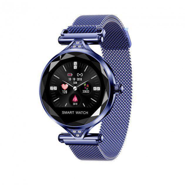 Женские часы-браслет Smart Watch (синие)
