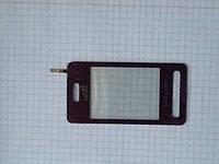 Сенсорный экран Samsung D980,la fleur, бордовый