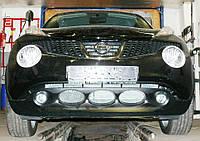 Декоративно-защитная сетка радиатора Nissan Juke фальшрадиаторная решетка, бампер, фото 1