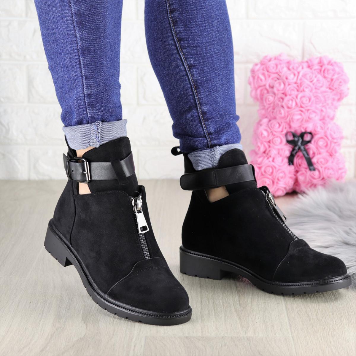 Ботиночки женские черные Puffi 1447