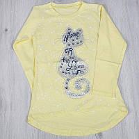 Детский батник из трикотажа (весна/осень) для девочек 6-7 (2 ед. в уп)