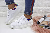 Женские белые кроссовки Mareli 1114