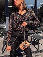 Женская рубашка из креп-шифона Эмма, фото 1