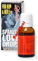 Капли Любви Натуральный афродизияк возбудит обоих Spanish Love Drops S-Drops страстный секс 15мл.