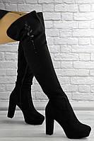 Женские ботфорты Katrina черные 1414, фото 1