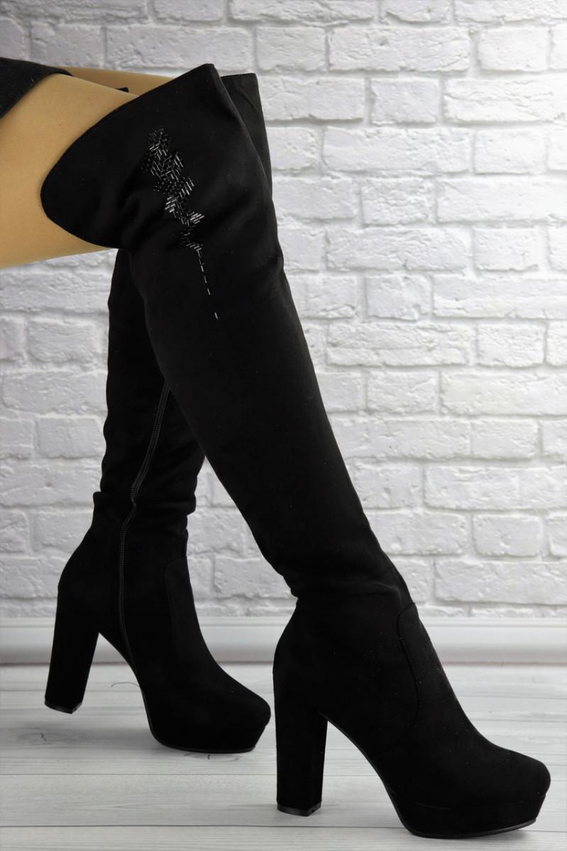 Женские ботфорты Katrina черные 1414