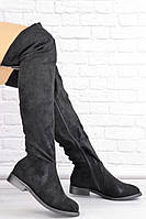 Женские ботфорты Petra черные 1460, фото 1