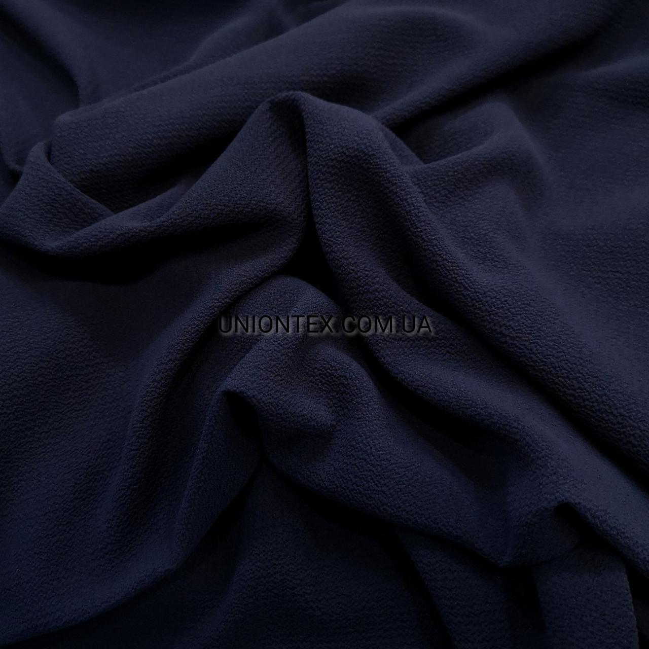 "Ткань креп-шифон ""бабл"" темно-синий"