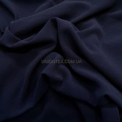 """Ткань креп-шифон """"бабл"""" темно-синий, фото 2"""