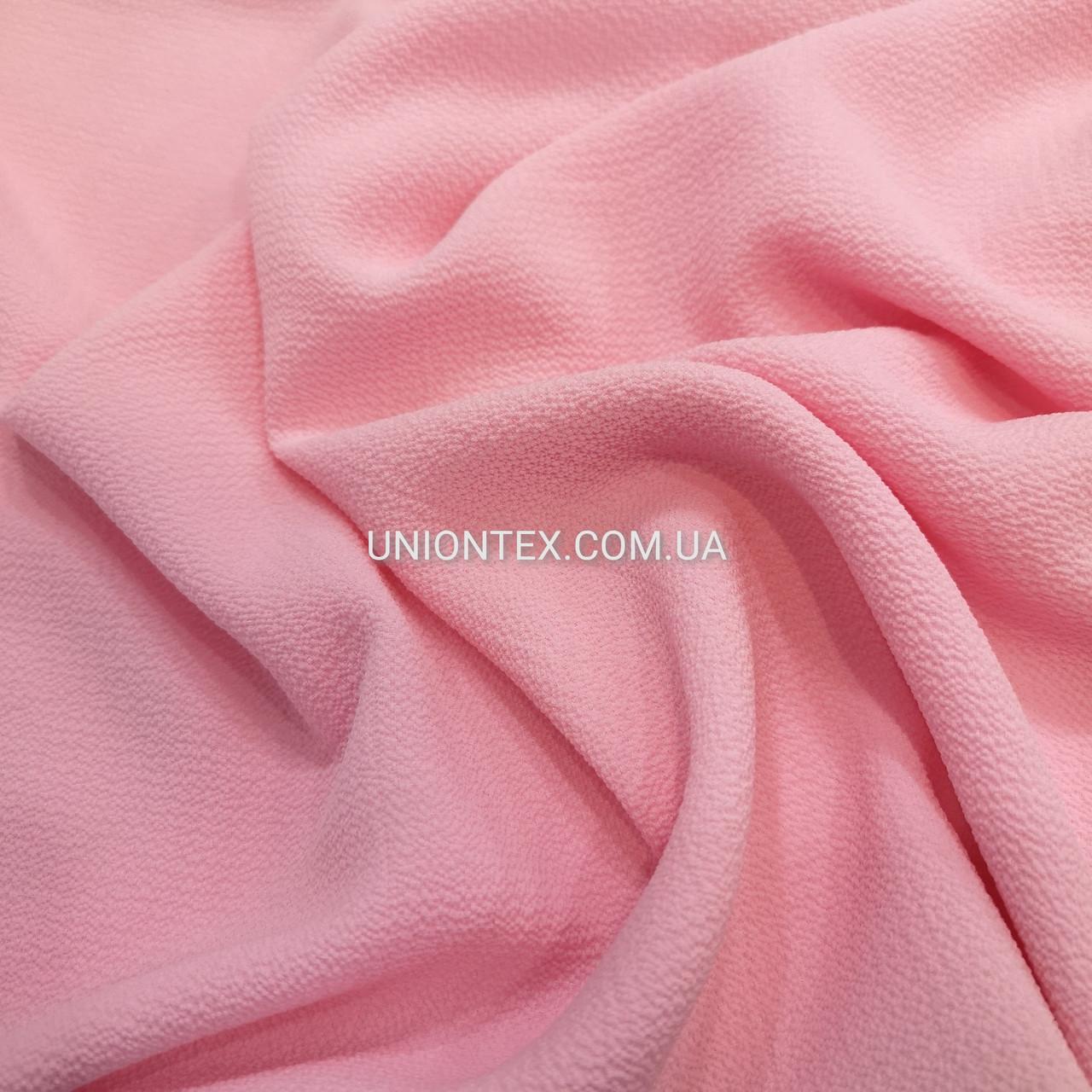 """Ткань креп-шифон """"бабл"""" розовый"""