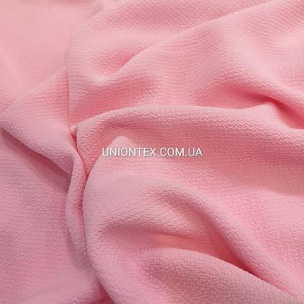 "Ткань креп-шифон ""бабл"" розовый, фото 2"