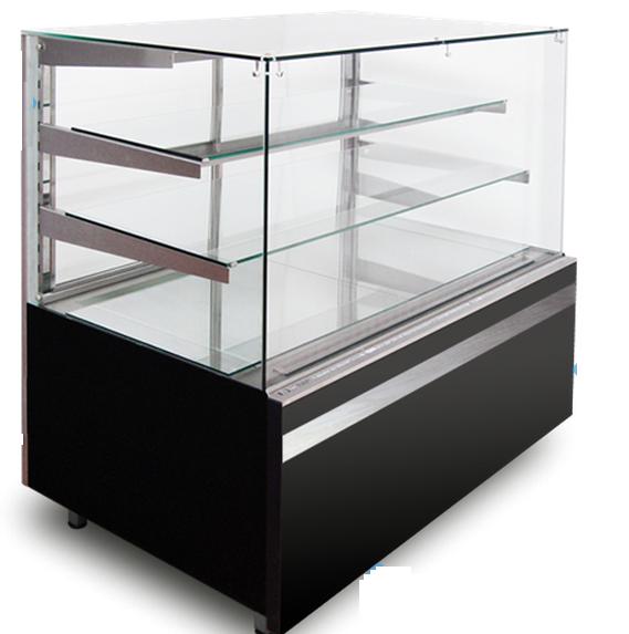 Кондитерская холодильная витрина GASTROLINE CUBE 910 3 полки (куб стекло) - Tradeholod в Киевской области
