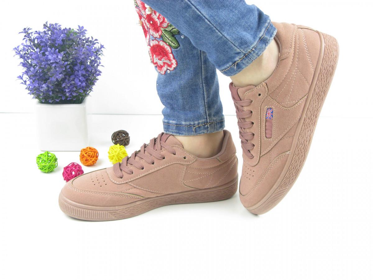 Женские стильные бежевые кроссовки 1028