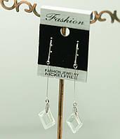 Серьги с кристаллами ромбовидной формы, сережки Swarovski. 420