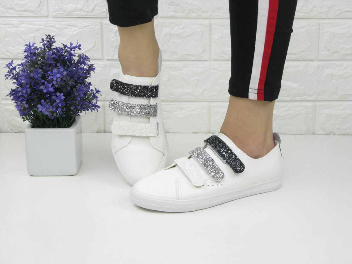 Стильные женские кроссовки Ellen белые 1063