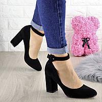 Туфли женские на каблуке черные Bruno 1433
