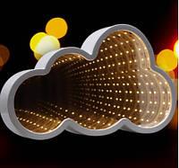 Дитячий нічник 3d Led Infinity Хмаринка