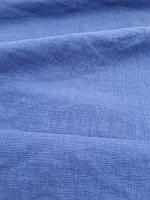 """Льняная плотная костюмная ткань с """"эффектом помятости"""" цвета """"Деним"""", фото 1"""