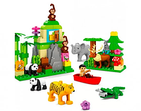 Конструктор JDLT 5285-UC зоопарк, фигурка,животн,слон-звук,на бат(таб),106дет,в кор,60-45-12,5см