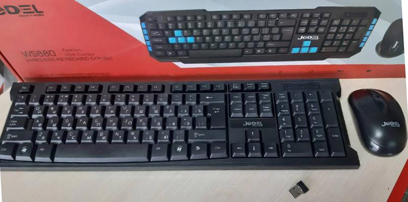 Клавиатура беспроводная JEDEL WS880 + мышка, фото 2