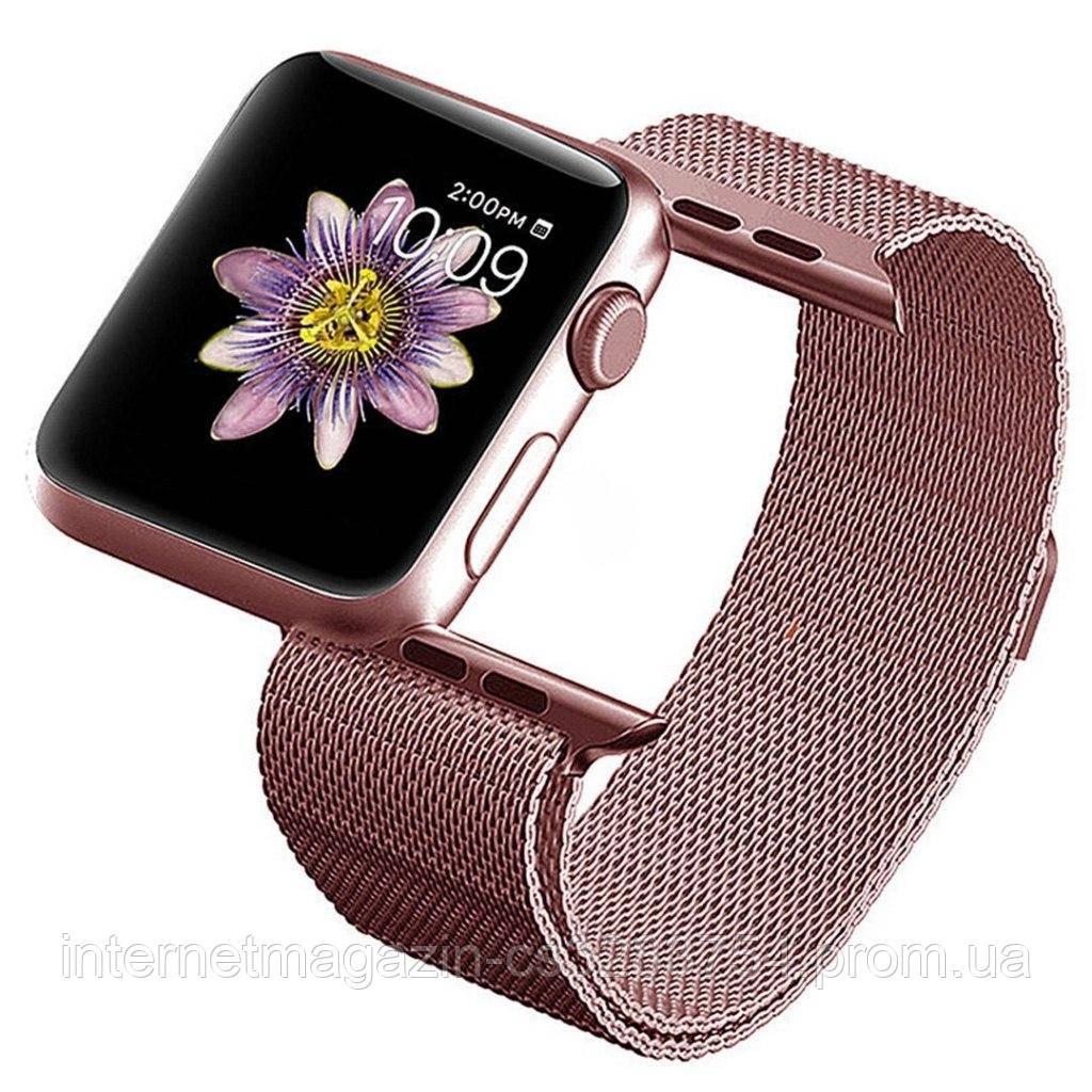 Ремешок BeWatch для Apple Watch миланская петля 38 мм / 40 мм Rose Gold (1050228)
