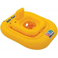 Надувной детский круг-плотик Intex со спинкой 79х79 см, желтый