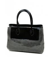 Черная сумка лаковая Shengkasilu
