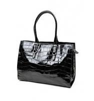 Черная кожанная сумка Silhouette