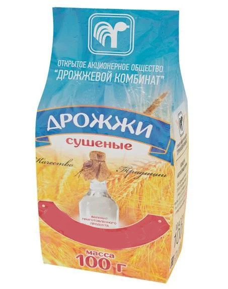 """Дрожжи сушеные """"СПИРТОВЫЕ"""", 100 грамм (Беларусь)"""