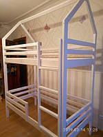 Детская двухъярусная кровать -домик из натурального дерева от производителя- 4500 грн